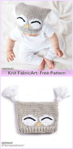 Knit Kids Owl Hat Patterns - Hoot Owl Hat Free Knitting Pattern with Video