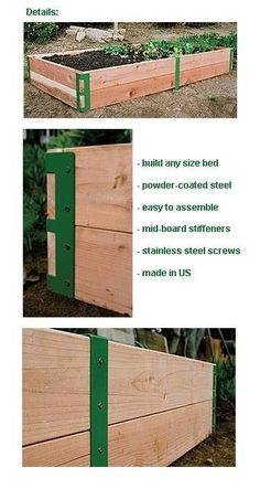Raised Garden Bed Bracket Kit To be able to have an excellent Modern Garden Decoration, it's useful to be ready … Building A Raised Garden, Raised Garden Beds, Raised Beds, Modern Landscaping, Garden Landscaping, Landscaping Ideas, Organic Gardening, Gardening Tips, Fairy Gardening