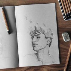Sketchbook    #face #portrait #sketch #sketching #sketchbook #paper #pencil #draw #drawing #art #artwork #pencilsketch #pencildrawing #pencilart #miro_z #arts_help #beautifulbizarre #artcomplex #drawingthesoul #artist_4_shoutout #onyxkawai #artwhisper