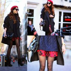 1.PLAID SKIRT, ARAFEEL 2.BOOTS, MARUTI 3.SWEATER, CHOIES
