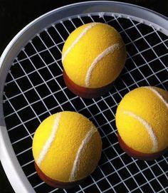 Le g�teau en forme de balle de tennis de Christophe Felder