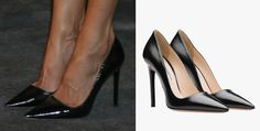 Doña Letizia wore black leather Prada heels. Queen Letizia attends a concert in honour of the 15th anniversary of Grupo Vocento at the Royal Theatre in Madrid. 21 September 2017