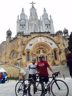 Private tours in Barcelona with Montefusco Cycling. Tibidabo was today our destination! #barcelona #cyclingtours