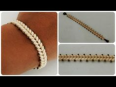 Superduo Armband * DIY * Twin Bead Bracelet [eng sub] Wrap Bracelet Tutorial, Zipper Bracelet, Beaded Wrap Bracelets, Seed Bead Jewelry, Beaded Jewelry, Jewellery Diy, Seed Beads, Super Duo Beads, Armband Diy