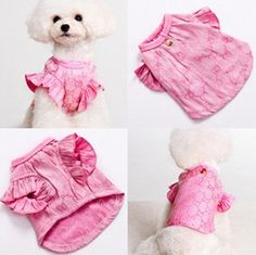 New sweet pink pet clothes puppy dog clothes teddy clothes chihuahua lovely Leisure clothing on Etsy, $16.88