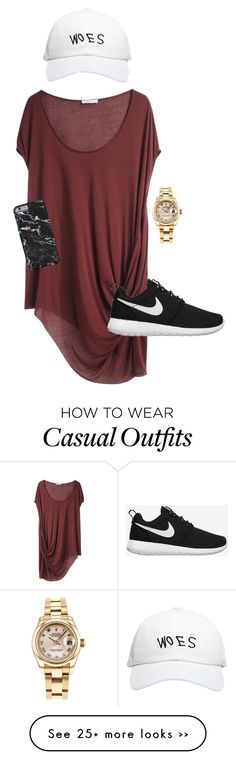 """Casual"" by jimenaxcx on Polyvore featuring Rolex, October's Very Own, Helmut Lang and NIKE"