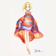 Watercolors Illustration Emilio Pucci SS 2015 #fashion #fashionillustrator #fashionillustration #instadraw #illustration #illustrator #drawing #artwork #watercolor #emiliopucci #instartist #emiliopucciinspired