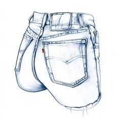 Sexy Jeans pen illustration by Ini Neumann