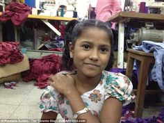 Heart breaking: Nine-year-old factory worker Meem was in charge of training undercover reporter Raveena Aulakh