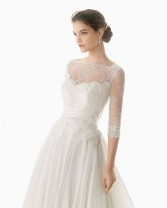 I love lace sleeves on a wedding dress