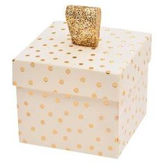 Gold Foil with Dots Wedding Favor (40 count) : Target