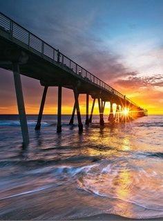 Ocean sunset, Manhattan Beach, California<<<<< I've been here!