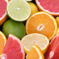 Citrus (lemon yellow, lime green, tangerine orange, and pink grapefruit) inspired color palette with a neutral base. Colorful Fruit, Fresh Fruit, Citrus Fruits, Fresh Mint, Citrus Trees, Tropical Fruits, Colour Schemes, Color Combos, Summer Colors