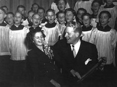 Shirley Temple with Nelson Eddy, Christmas Eve 1939.