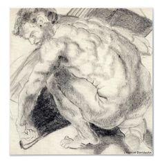 "CANVAS OF ""PETER"" BY HARRIET DAVIDSOHN - ART POSTER - Fantastic Man!"