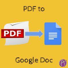 Convert Your PDF's to Google Docs via Alice Keeler http://www.alicekeeler.com/teachertech/2015/09/07/convert-your-pdfs-to-google-docs/?utm_content=bufferaa9f2&utm_medium=social&utm_source=pinterest.com&utm_campaign=buffer #gafe #googleedu