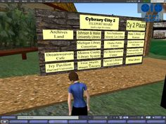 Cybrary City TP Board - Second Life 3 Aug 2009