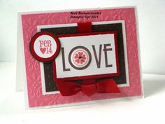 Love Card, Stampin Up Filled with Love, Valentines Day Card