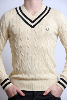 Fred Perry cricket sweater