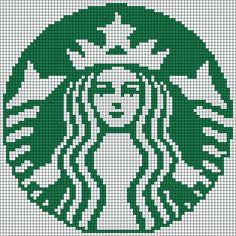 Starbucks Coffee logo perler bead pattern