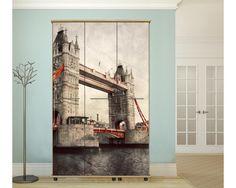Tower bridge Vintage,αυτοκόλλητο  ντουλάπας / Closet , wardrobe sticker Tower Bridge, Stickers, Painting, Vintage, Closet, Art, Art Background, Armoire, Painting Art