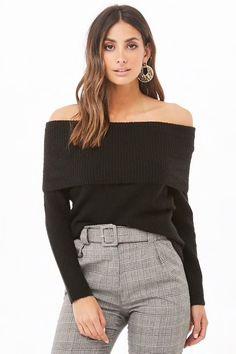 4c260edef23 Ribbed Off-the-Shoulder Sweater