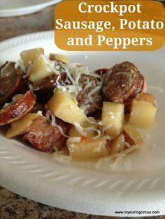 Crockpot Sausage, Potato and Peppers