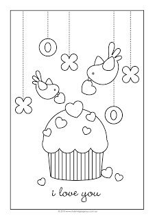 cupcake and birdies Embroidery Redwork Applique Patterns, Embroidery Applique, Embroidery Stitches, Embroidery Designs, Colouring Pages, Coloring Sheets, Coloring Books, Free Coloring, Vogel Clipart
