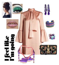 """""""Going Purple"""" by ladi-london on Polyvore featuring Fendi, Dolce&Gabbana, Jimmy Choo, Miss High & Low, Cartier and Gerber"""