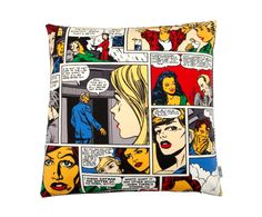 Kussenhoes Cartoon, multicolor, 50 x 50 cm | Westwing Home & Living
