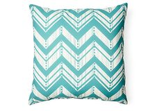 Weathered 20x20 Outdoor Pillow, Teal on OneKingsLane.com