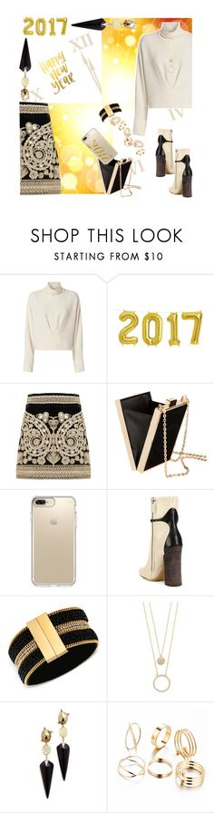 """2017!"" by petalp ❤ liked on Polyvore featuring IRO, For Love & Lemons, Speck, Derek Lam, GUESS, Kate Spade, Alexis Bittar and ootd"