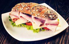 Ham, Pear And Swiss Sandwich