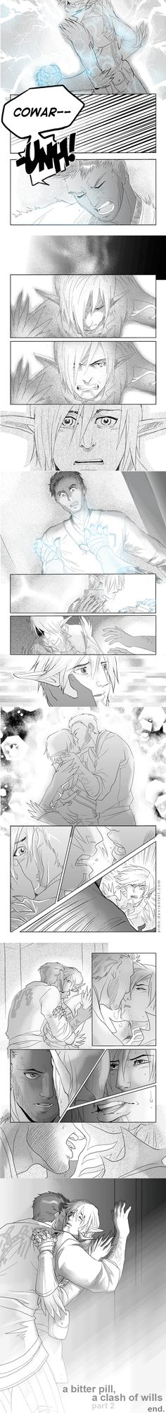 DA2 - A Clash of Wills 2 by aimo on DeviantArt | Fenris and Hawke