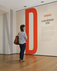 Exhibition graphic panels at MoMA by The Department of Advertising and Graphic Design