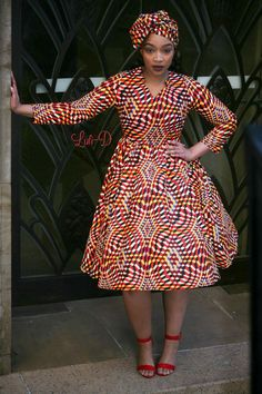 Attractive shweshwe dresses For Women 2019 ShweShwe 1 African Fashion Ankara, Latest African Fashion Dresses, African Print Fashion, South African Traditional Dresses, African Print Dress Designs, Short African Dresses, Shweshwe Dresses, Looks Plus Size, African Attire