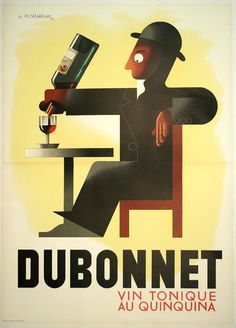 french art deco drink advertisement