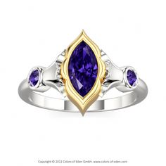 "Tanzanite Ring - ""Eye of Shiva"""
