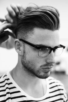 modern pomp, undercut, mens hair