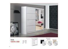 Vista 180 garderoba szafa z lustrem - Flori Meble