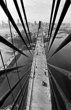 When Sydney's Anzac bridge opened in 1995, the city finally had a crossing to rival its famous harbour bridge. Photographer David Moore documented its construction over three years in images that join a long tradition of honouring urban engineering feats – and the workers who sweat to create them. His photographs are at Customs House, Sydney until 15 January Anzac bridge, Sydney