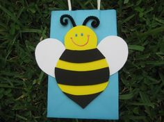 Bumble Bee Birthday Party Favor Bag by christinescritters on Etsy, $2.50