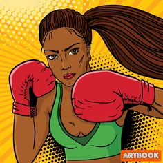 This is a great boxing pose Red Boxing Gloves, Desenho Pop Art, World Of Warriors, Vector Hand, Comic Styles, Arte Pop, Dark Skin, Red Skin, Retro