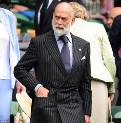 Queen's cousin: Prince Michael of Kent joined his wife in the royal box