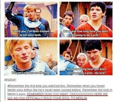 Merlin meets Arthur with bunches of sass.