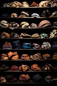 A selection of scarves from Pitti Immagine, Uomo