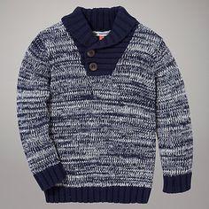 Buy John Lewis Shawl Jumper Online at johnlewis.com,  Toddler Boy Style, Boys Fashion, Baby Boy Fashion