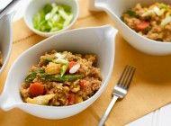 """Stir-Fried Cauliflower """"Rice"""" Bowl"""