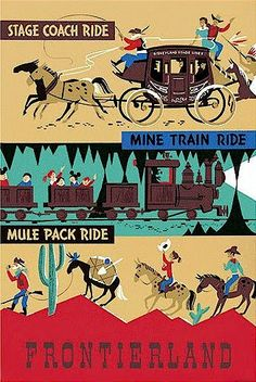 Disneyland Attraction Posters: The Frontierland Collection