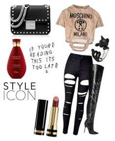 Day 1 by trixievogue on Polyvore featuring polyvore Moschino WithChic Vetements MICHAEL Michael Kors Gucci fashion style clothing